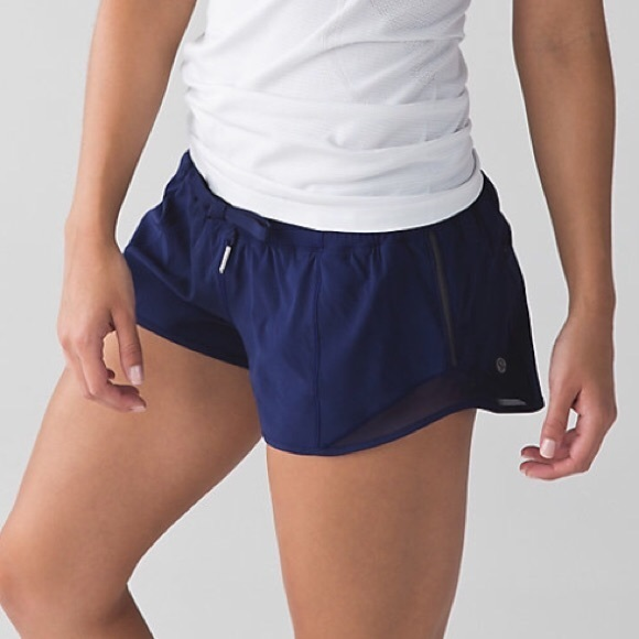 897b8b7ac lululemon athletica Pants - Lululemon Hotty Hot Short Size 4 Navy Blue Mesh